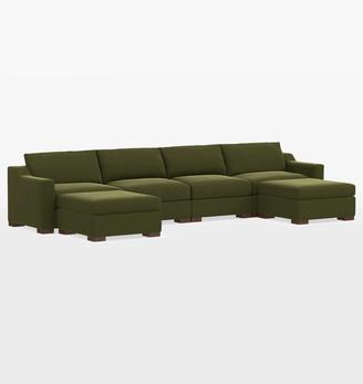 Rejuvenation Sublimity Studio 6-Piece Double Chaise Sectional Sofa