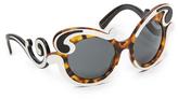 Prada Special Fit Swirl Sunglasses