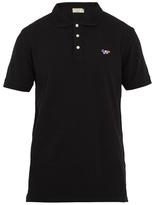 MAISON KITSUNÉ Fox-applique cotton-piqué polo shirt