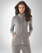 Soma Intimates Vintage Terry Classic Zip Front Jacket