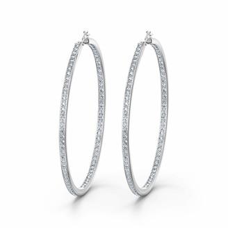 Swarovski Women's Rare Collection Hoop Pierced Earrings