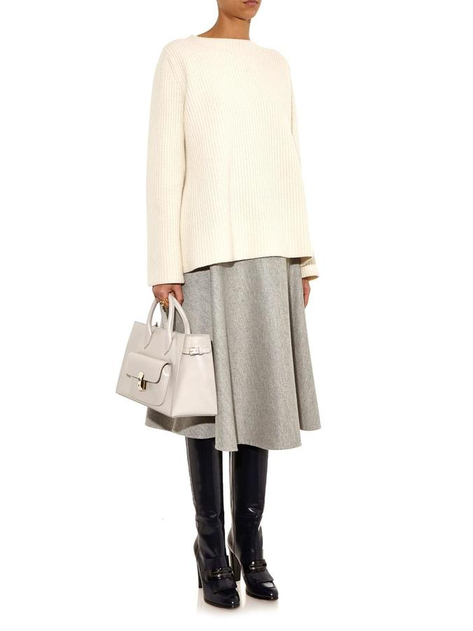 Balenciaga Padlock Work XS leather tote
