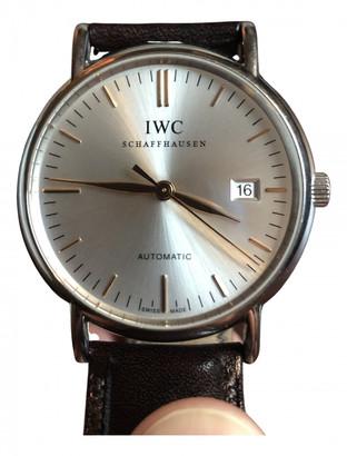 IWC Portofino Silver Steel Watches