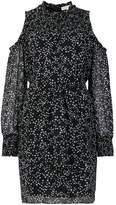 MICHAEL Michael Kors star print cold shoulder dress