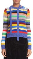 Marc Jacobs Stripe Cashmere Crewneck Sweater