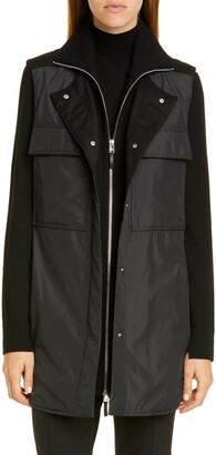 Lafayette 148 New York Willis Vest with Knit Dickey