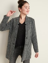 Old Navy Relaxed Textured Button-Front Coat for Women