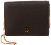 Burberry Jade Tb Grainy Leather Card Case On Chain