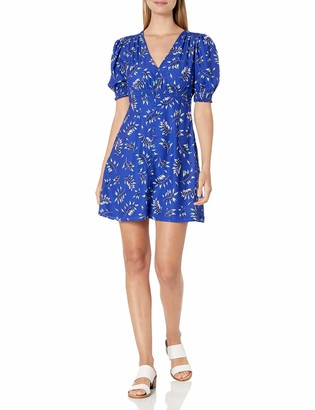 French Connection Women's Puff Sleeve Printed Dress