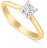 Aurora 18ct gold 0.50 carat princess cut diamond solitaire ring