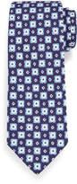 Isaia Printed Flower Medallion Tie