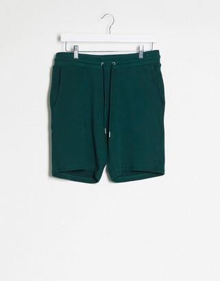 ASOS DESIGN jersey slim shorts in khaki