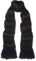 MiH Jeans Beat striped ribbed-knit scarf