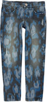 Roberto Cavalli Pantalon 'boy slim fit' en sergé stretch imprimé léopard