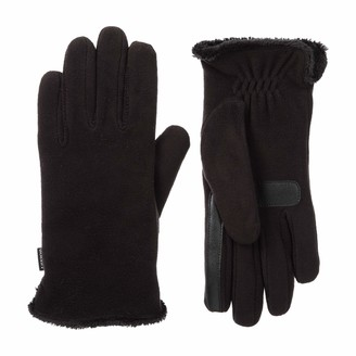 Isotoner Women's Stretch Fleece Touchscreen Texting Cold Weather Gloves with Warm Soft Lining smartDRI Black One Size