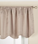 Lorraine Home Fashions Ralston Scalloped Valance, 54 x 18 Inches, Putty
