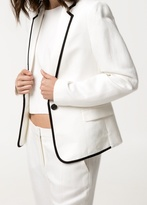 MANGO Outlet Herringbone Suit Blazer