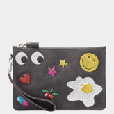 Anya Hindmarch Glitter Stickers Zip Top Pouch