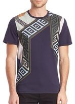 Versace Graphic Print Cotton Tee
