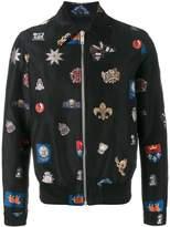Alexander McQueen badge embroidered jacket