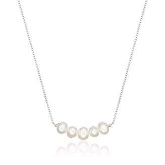 Lily & Roo Sterling Silver Cluster Pearl Necklace