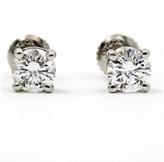 Tiffany & Co. 950 Platinum 1.1ct. Diamond Stud Earrings