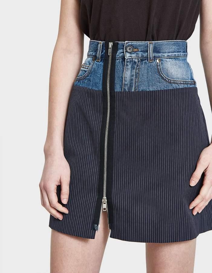 Maison Margiela Pinstripe Cotton Skirt