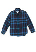 Burberry Toddler Boy's 'Mini Fred' Check Print Woven Shirt