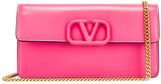 Valentino VSling Wallet on Chain Bag in Mac Rose | FWRD