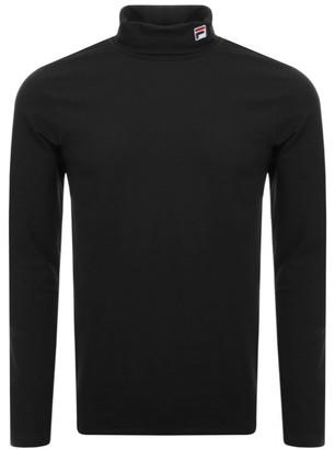 Fila Vintage Long Sleeve Roll Neck T Shirt Black