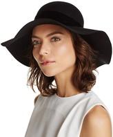 Aqua Velvet Trim Floppy Hat