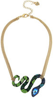 Betsey Johnson Garden Of Excess Snake Frontal Necklace