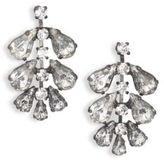Erickson Beamon Frequent Flyer Crystal Leaf Earrings