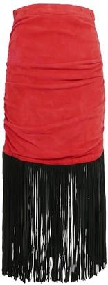 Saint Laurent Red Suede Skirt for Women Vintage