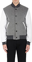 Thom Browne MEN'S CASHMERE & LEATHER BOMBER JACKET