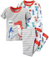 "Carter's Little Boys' Toddler ""Rawr!"" 4-Piece Pajamas"