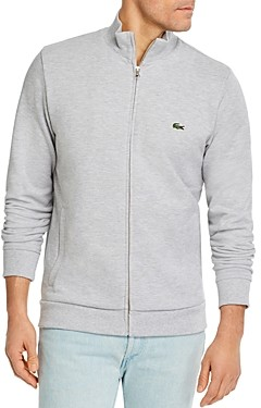 Lacoste Brushed Pique Fleece Full-Zip Sweatshirt