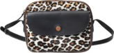 Gerard Darel Messenger Bag in Calfskin and Leopard Print
