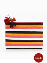 Miss KG Stripe Pouch Bag