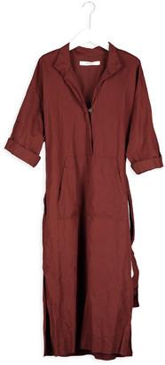 Humanoid Elyce Dress - xsmall   cotton   maroon - Maroon