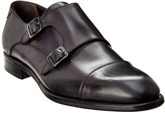 Antonio Maurizi Double Monk Leather Loafer