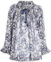 See by Chloe Flower Python Printed Blouse in Cotton and Silk