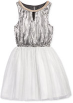 Nanette Lepore Embellished Metallic Special Occasion Dress, Big Girls (7-16)