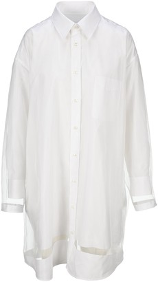 Maison Margiela Sheer Overlay Shirt Dress