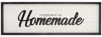 """Patton Wall Decor 12""""x36"""" Happiness is Homemade Rustic Wood Framed Wall Art White"""
