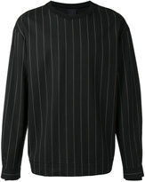 Juun.J pin stripe sweatshirt