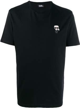 Karl Lagerfeld Paris Ikonik chest patch T-shirt