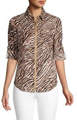 MICHAEL Michael Kors Safari Animal-Print Shirt