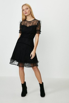 Coast Lace Ruffle Skater Dress