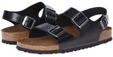 Birkenstock Milano - Leather Soft Footbed (Unisex) (Black Amalfi Leather) Sandals